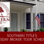 Tuesday Broker Tour Schedule – December 11, 2018