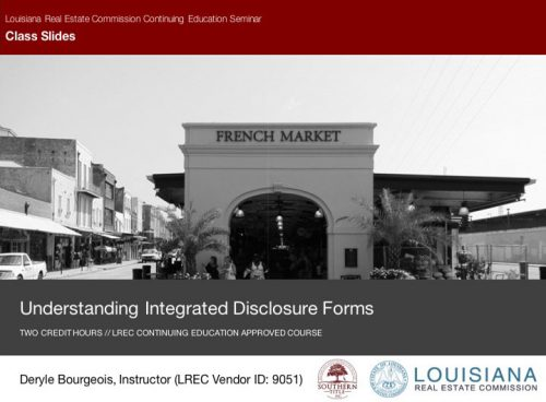 integrated disclosure forms slide