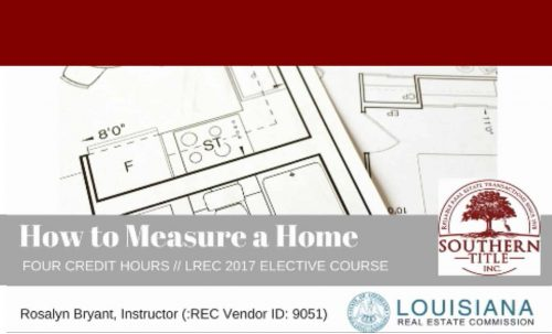 how to measure a home